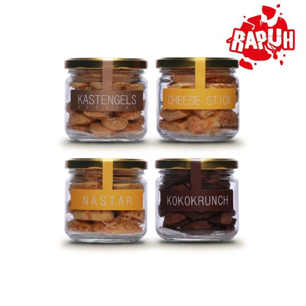 J&C Cookies Nastar Keju & Cheese Stick & Koko Krunch & Kaastengel Special / Paket Quad Mix Jar
