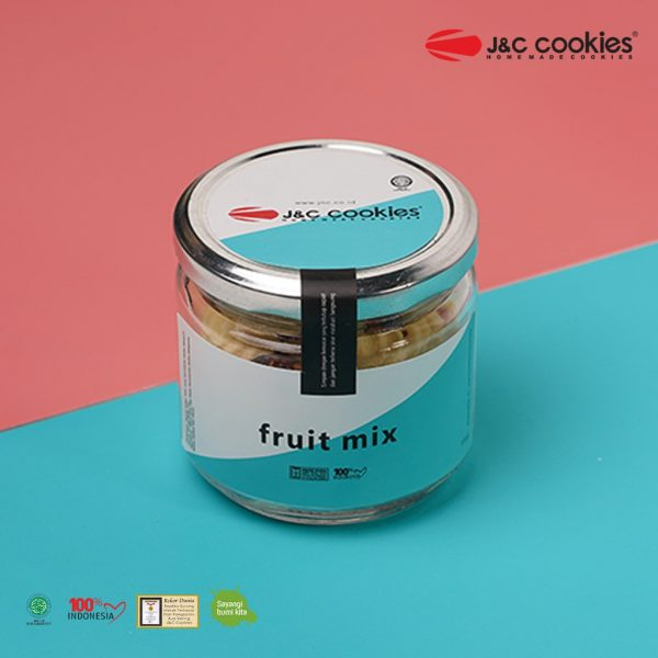 J&C Cookies Toples Kaca Fruit Mix