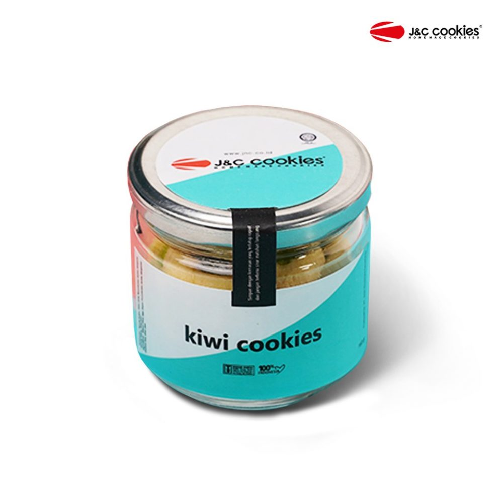 J&C Cookies Toples Kaca Kiwi Cookies