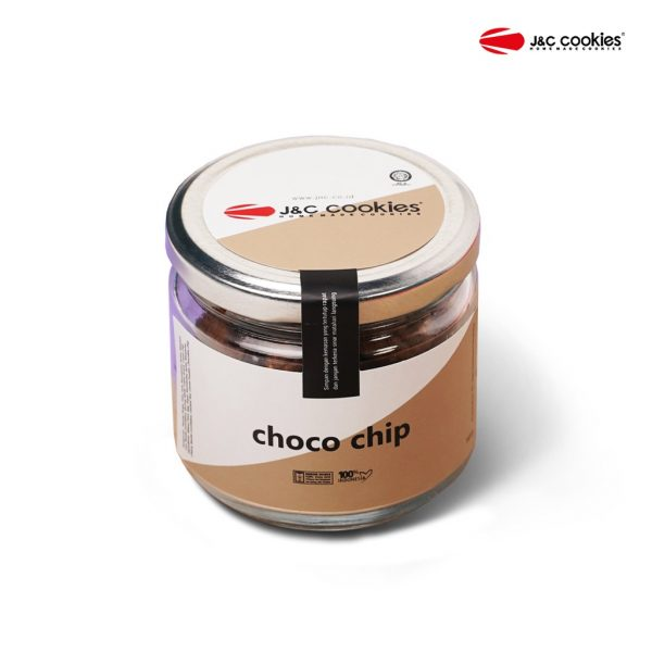 J&C Cookies Toples Kaca Choco Chips