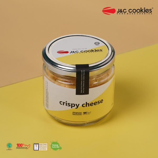 J&C Cookies Toples Kaca Crispy Cheese