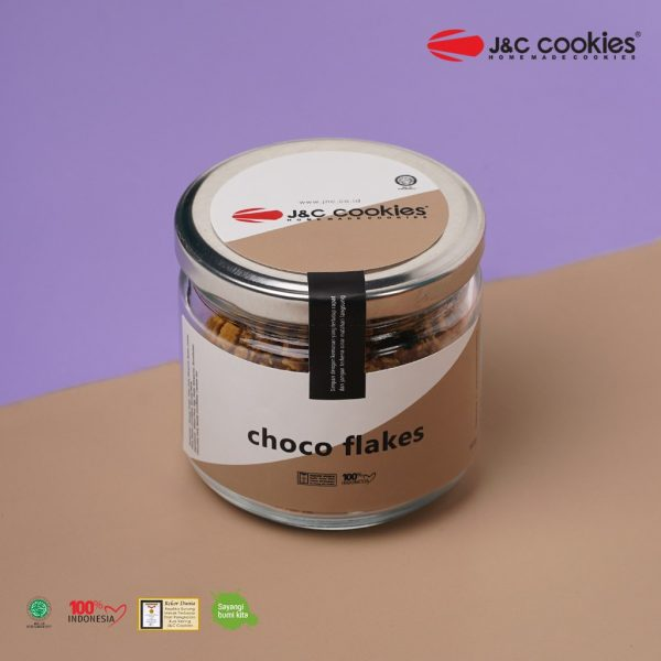 J&C Cookies Toples Kaca Choco Flakes