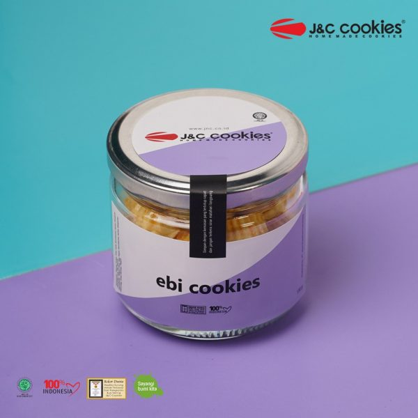 J&C Cookies Toples Kaca Ebi Cookies