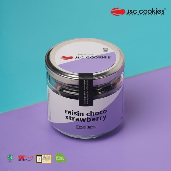J&C Cookies Toples Kaca Raisin Choco Strawberry